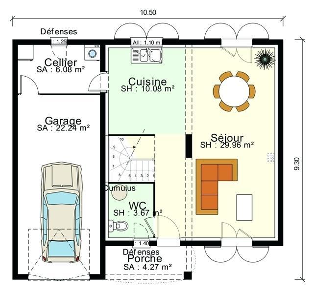 Plan De Maison 1 233 Tage Avec Garage Id 233 Es De Travaux