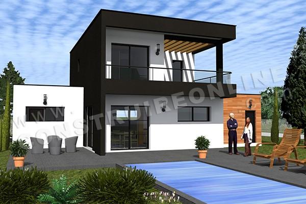 Plan de maison cube contemporaine - Idées de travaux