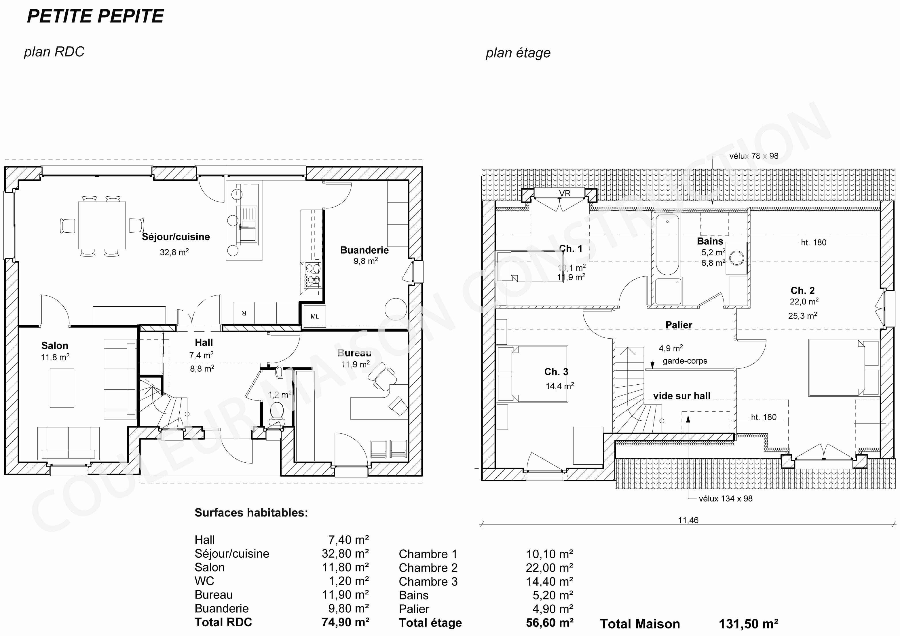 Plan de maison gratuit 4 chambres dwg - Idées de travaux