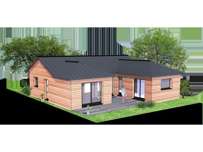 Plan de maison ossature bois gratuit id es de travaux - Maison en bois plein pied ...