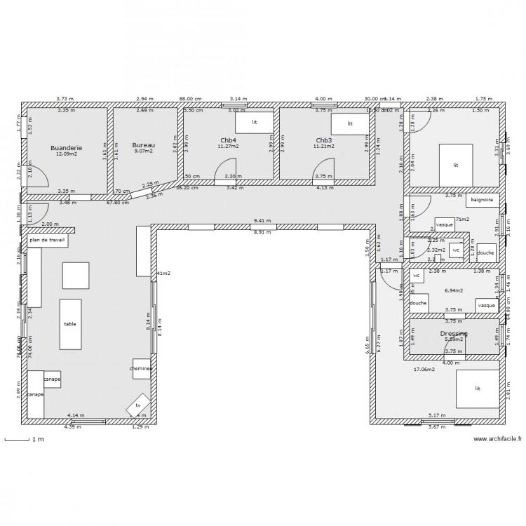 Plan de maison en u 3d - Idées de travaux 04552fa7d6ee
