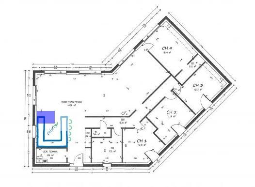 Exemple de plan de maison plain pied gratuit id es de travaux - Exemple de plan de maison gratuit ...