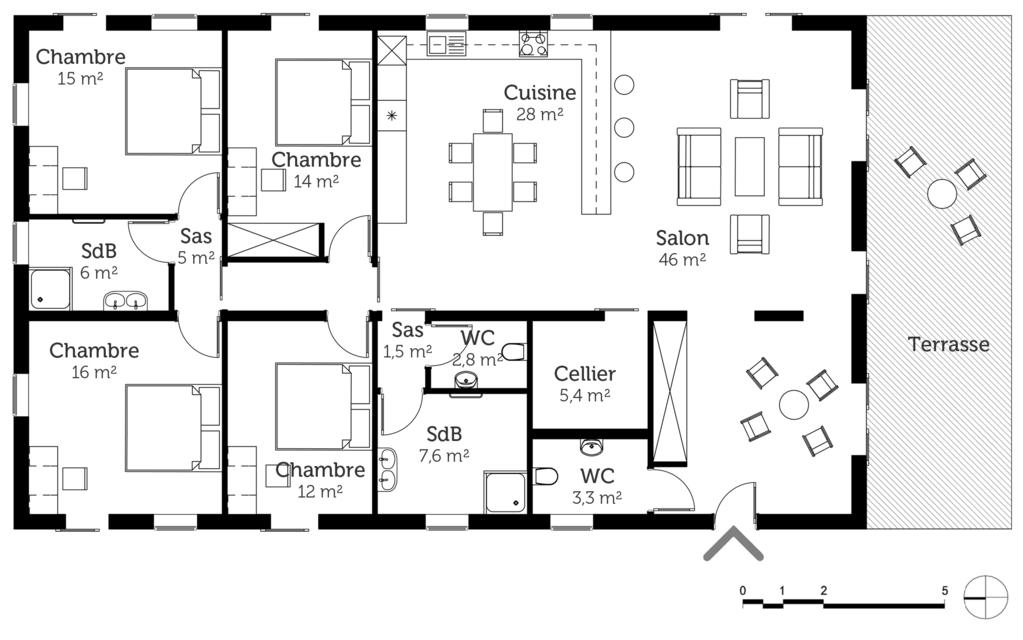 Plan de maison gratuit 2 chambres en pdf