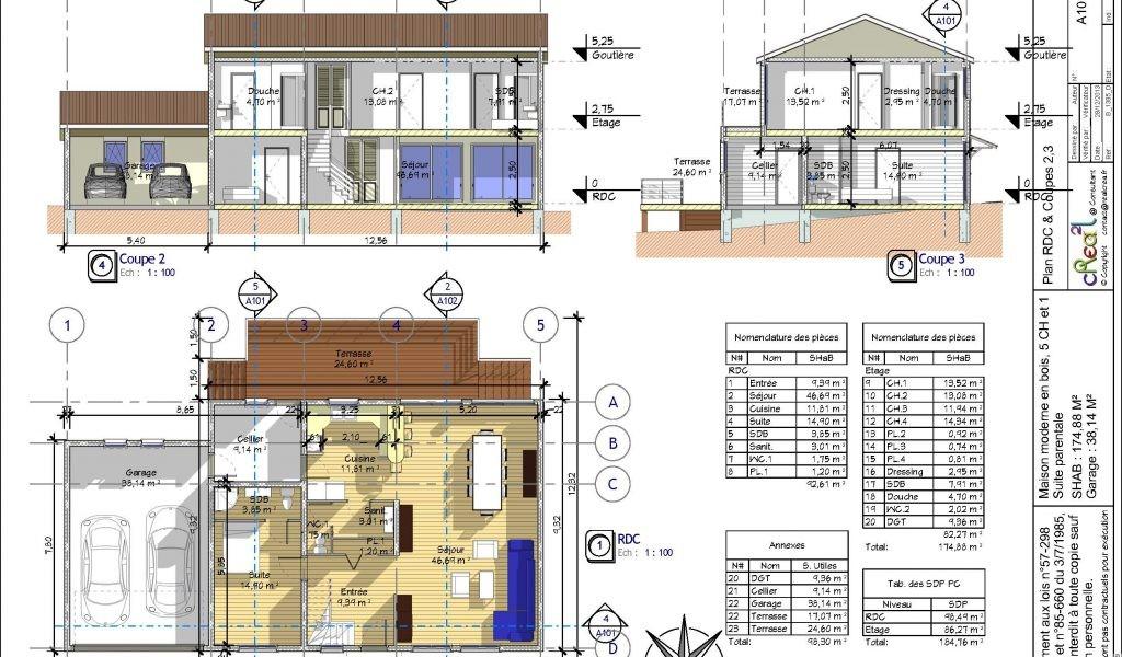 Plan De Maison Duplex Gratuit 4 Chambres Pdf | Ventana Blog
