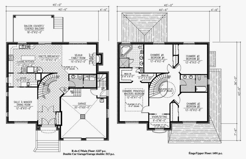 2 Nice Wonderful Plan De Maison Duplex Gratuit 4 Chambres Pdf | Maison Decor