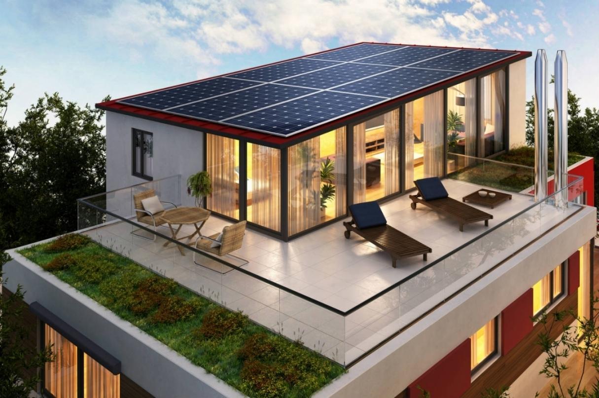 Plan de maison ossature bois a toit plat id es de travaux - Plan maison ossature bois toit plat ...