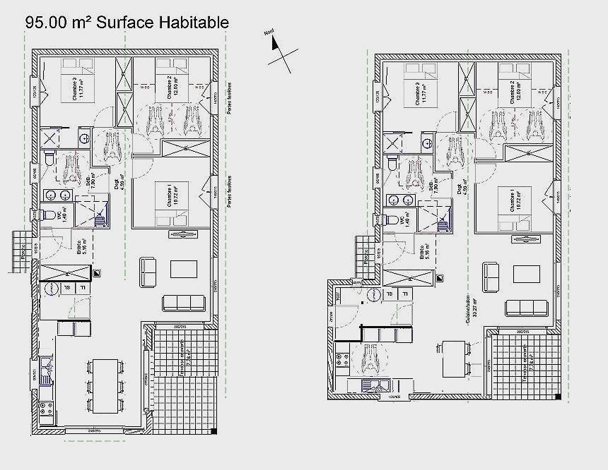 Plan de maison rectangulaire plain pied 150m2 ventana blog - Plan de maison rectangulaire ...