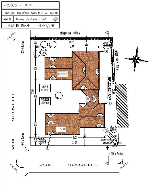 Faire plan de masse maison id es de travaux - Plan de masse maison individuelle ...