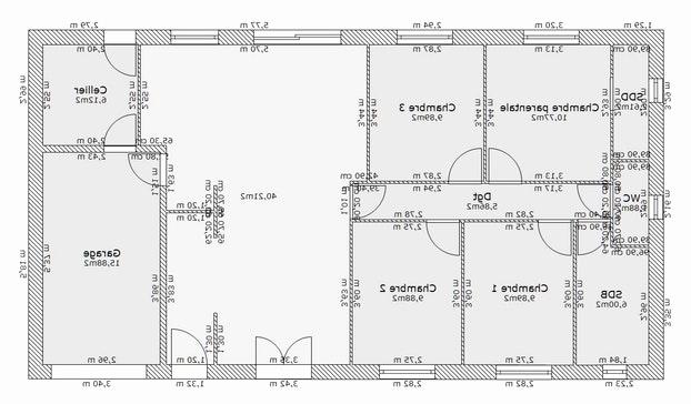 Plan de maison rectangulaire plain pied 150m2 id es de - Plan de maison plain pied 150m2 ...