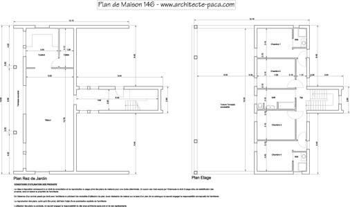 Plan de maison basse 4 pièces pdf