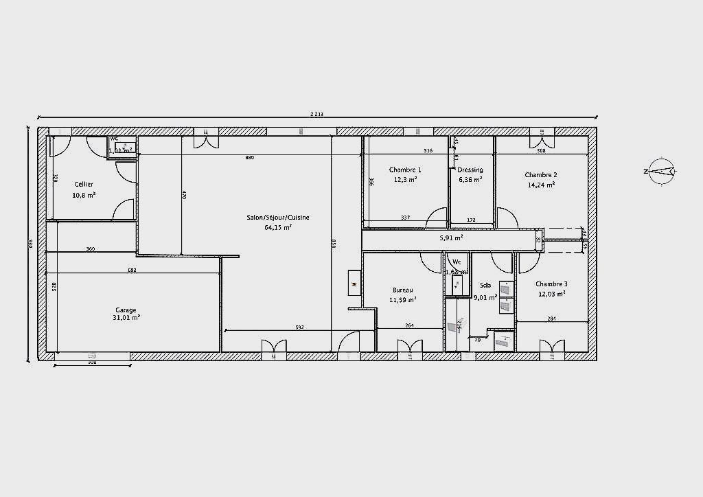 Plan maison 150m2 plain pied ventana blog - Plan maison 150m2 plain pied ...