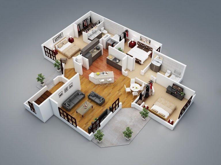 Plan 3d de maison gratuit - Idées de travaux