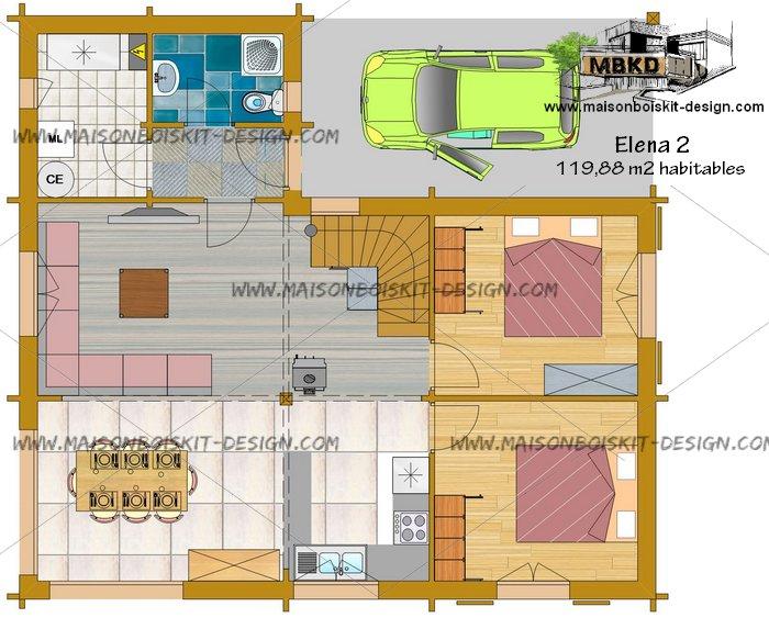 plan de maison 120m2 avec tage id es de travaux. Black Bedroom Furniture Sets. Home Design Ideas