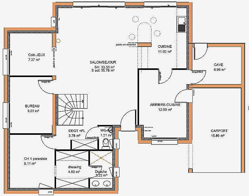 Plan De Maison Moderne 5 Chambres