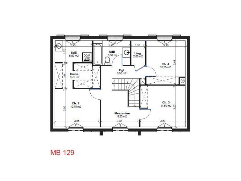 Plan de maison r 1 id es de travaux - Plan maison r 1 100m2 ...