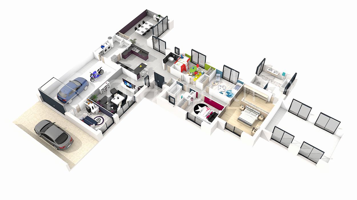 Plan Maison 3d 6 Chambres Idées De Travaux
