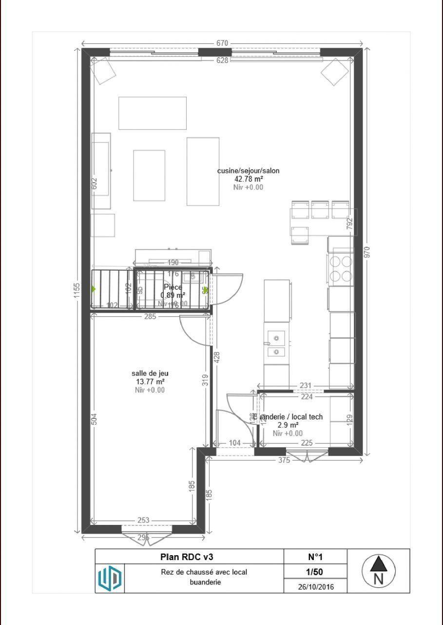 Plan maison de 90m2