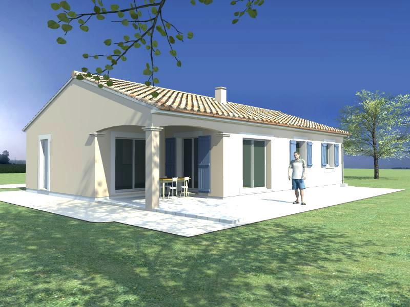 Plan De Maison Plain Pied Terrasse Couverte Idees De Travaux