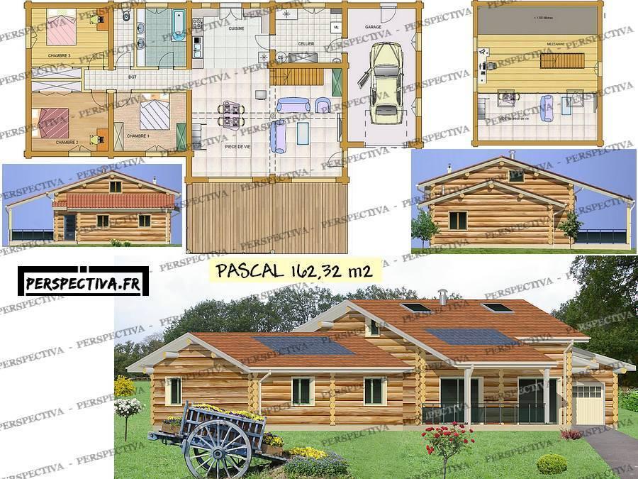 Plan de maison en bois 3d id es de travaux - Plan maison en bois gratuit ...