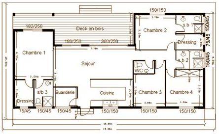 Plan de maison a ossature bois gratuit id es de travaux - Plan maison en bois gratuit ...