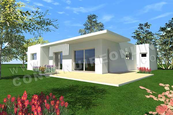 Plan de maison contemporaine 190m2