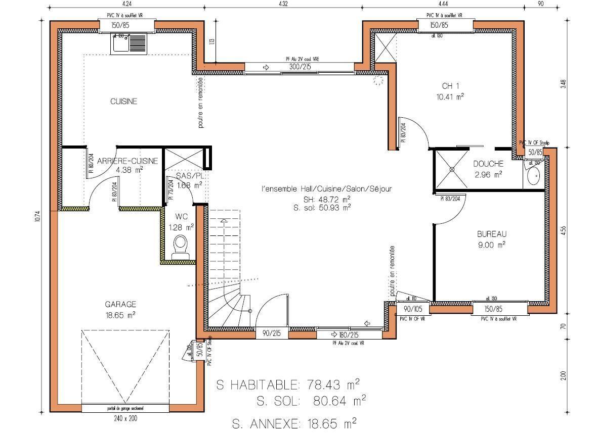 Plan maison contemporaine d'architecte - Idées de travaux