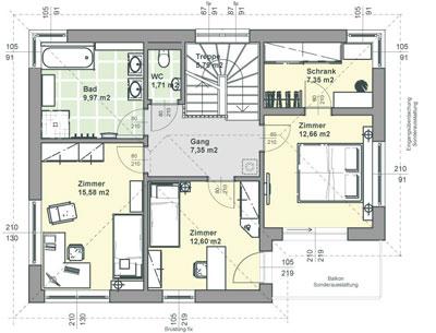 Plan de maison standard id es de travaux for Plan de maison moderne toit plat gratuit