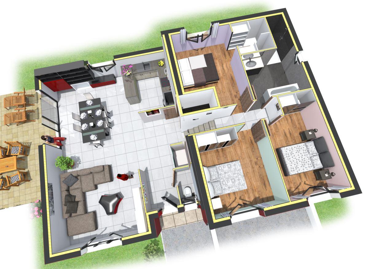 Plan de maison avec demi étage - Idées de travaux