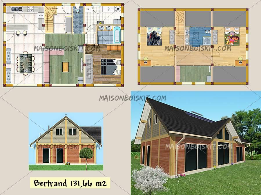 Plan de maison avec mezzanine gratuit id es de travaux - Plan maison bioclimatique gratuit ...