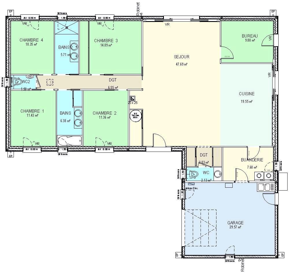 Plan De Maison Plain Pied Passive