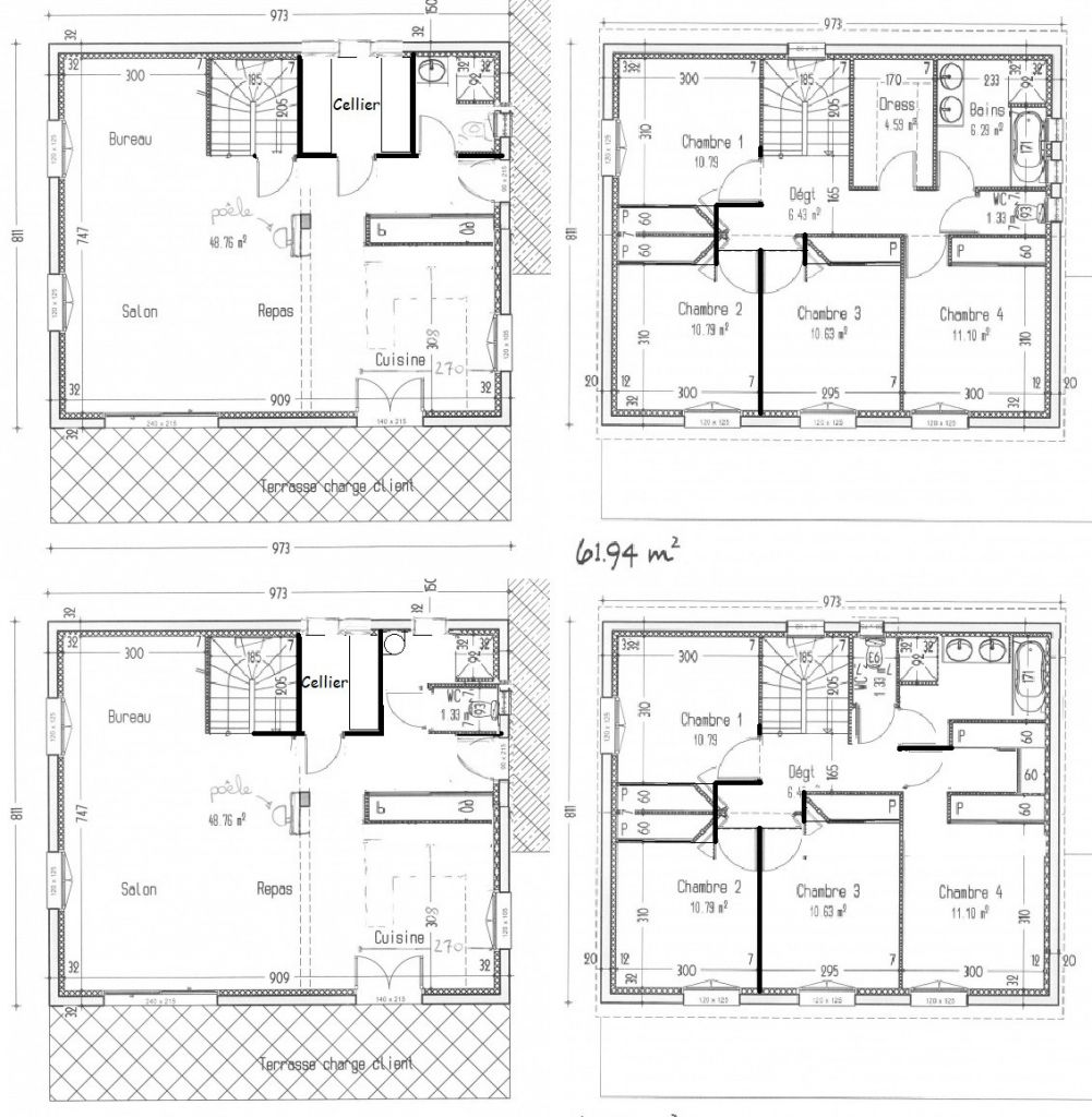 Plan maison 4 chambres etage ventana blog - Plan etage 4 chambres ...