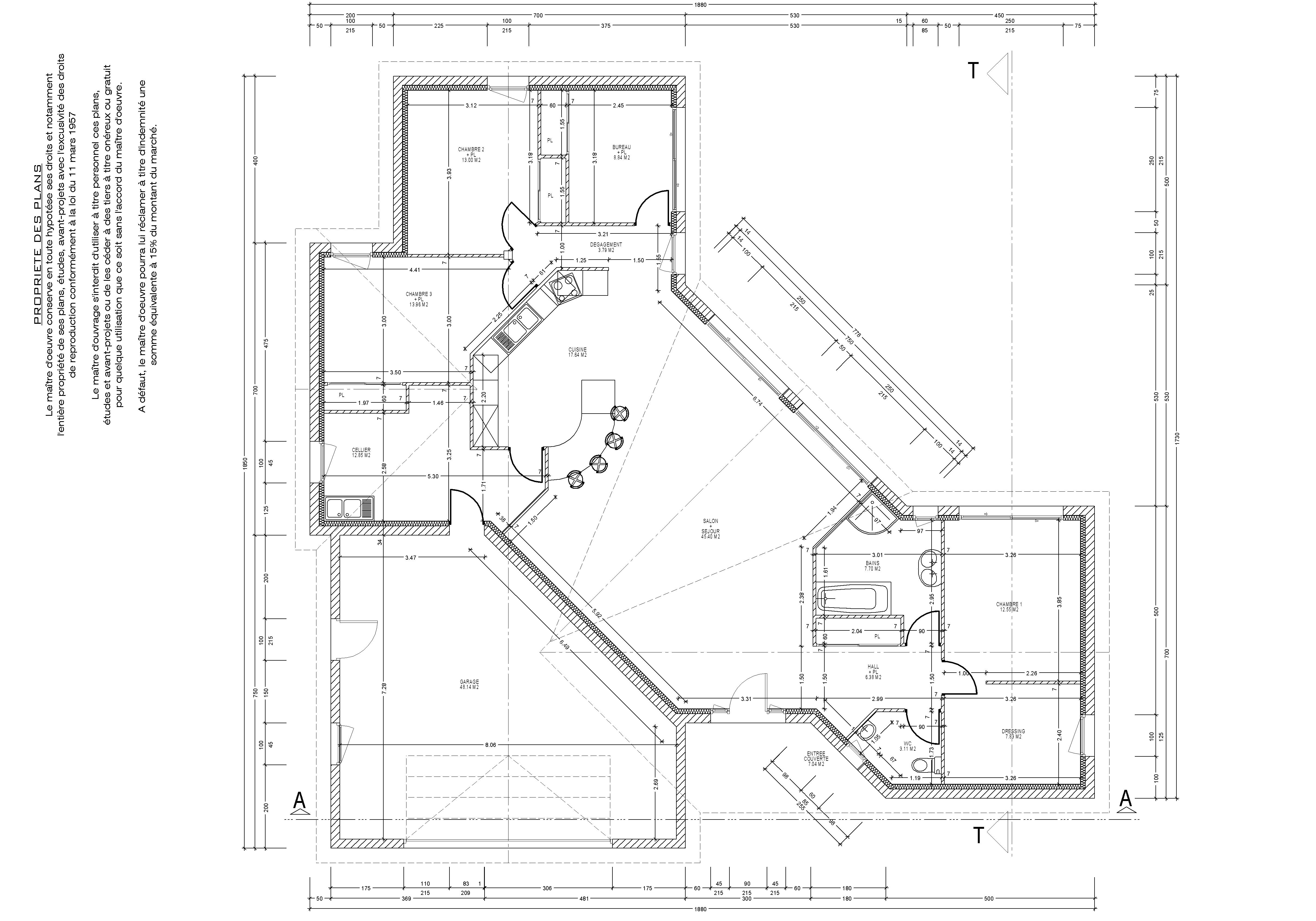Plan interieur maison en v - Idées de travaux 353ad1324705