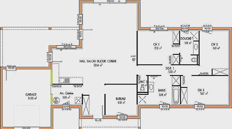 Plan De Maison étage 3 Chambres