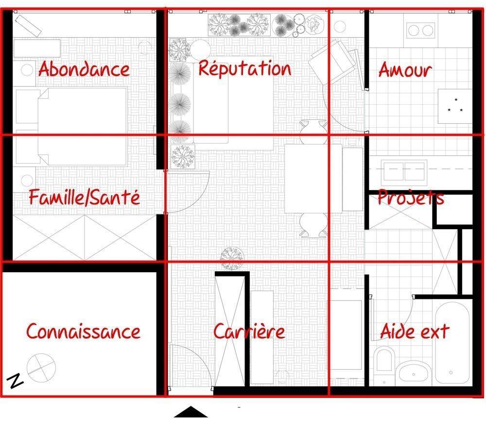 Plan de maison plain pied feng shui id es de travaux - Maison jardin feng shui amiens ...
