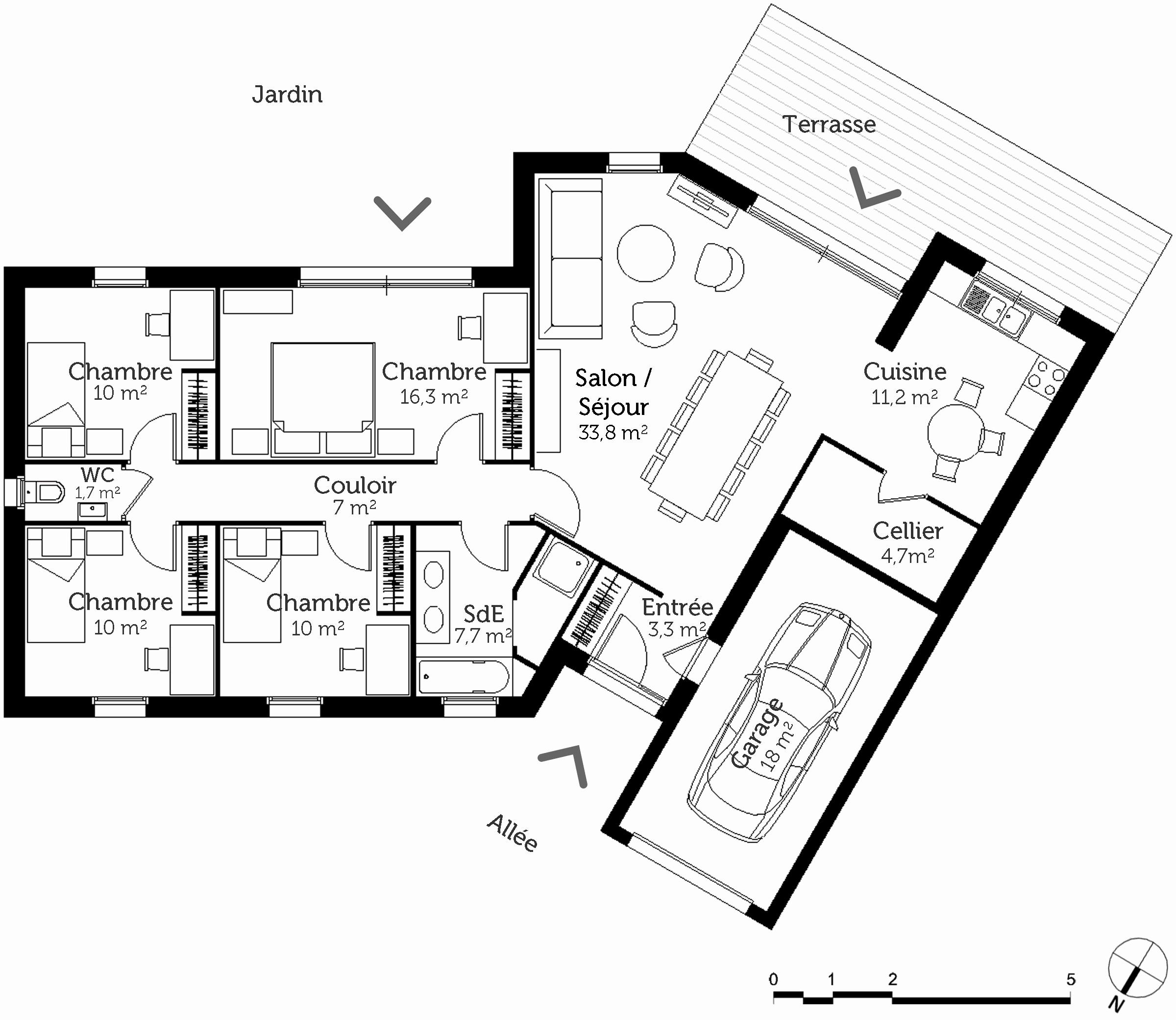 Plan maison 2 chambres gratuit pdf