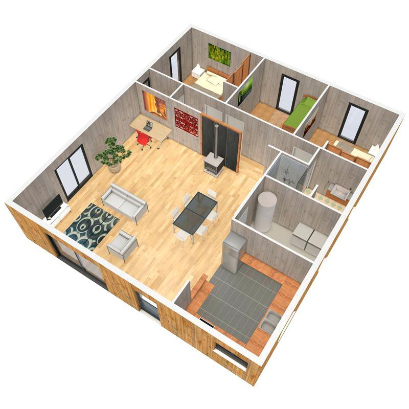 Plan de maison feng shui gratuit id es de travaux - Feng shui gratuit maison ...