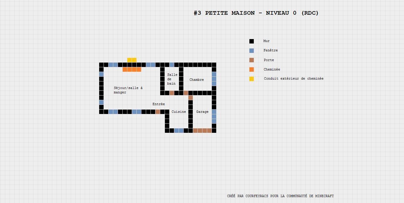 Plan de maison moderne dans minecraft - Idées de travaux