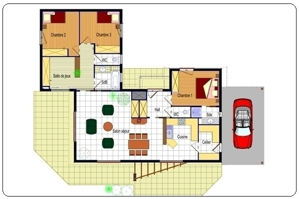 Plan Maison Contemporaine De Plain Pied