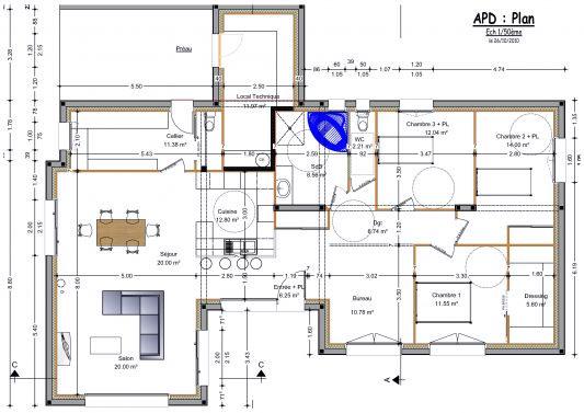 Plan de maison plain pied moderne toit plat ventana blog for Maison contemporaine toit plat plain pied