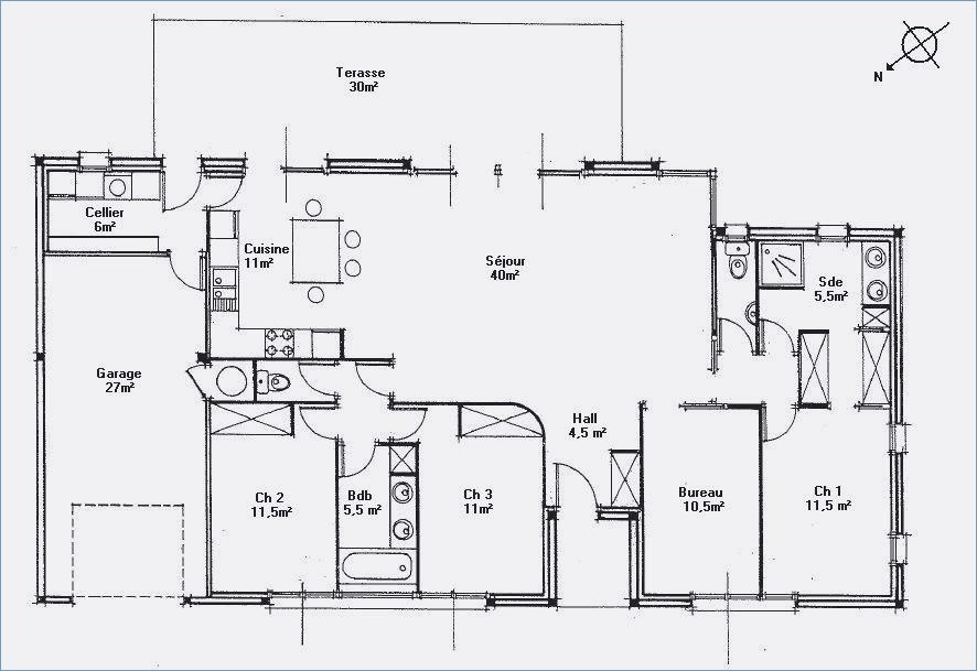 Plan de maison moderne toit plat gratuit id es de travaux - Plan maison toit plat gratuit ...