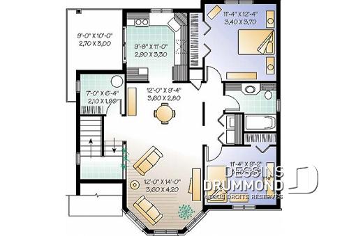 Plan de maison duplex 2 chambres
