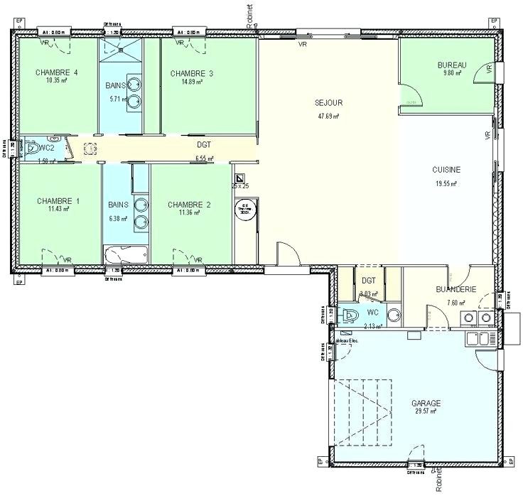 Beautiful Plan De Maison 120m2 Plein Pied