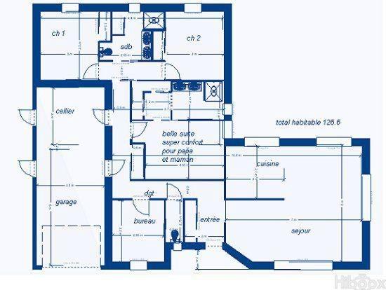 Plan maison de 120 m2 - Idées de travaux
