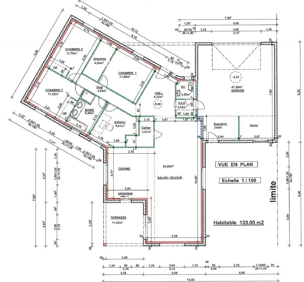 Exemple de plan de maison de 200m2 id es de travaux - Plan maison plain pied 200m2 ...