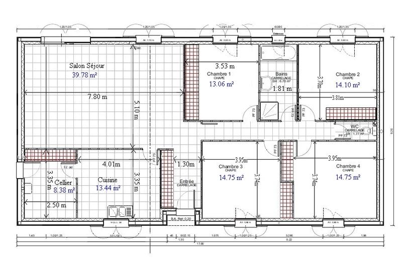 Modèle Plan De Maison Plain Pied Gratuit