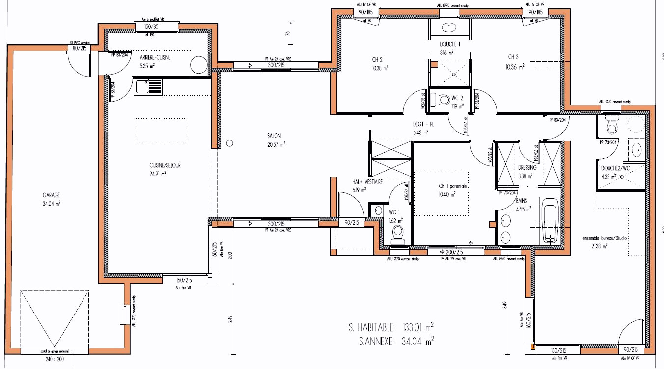 Plan de maison de luxe plain pied - Idées de travaux