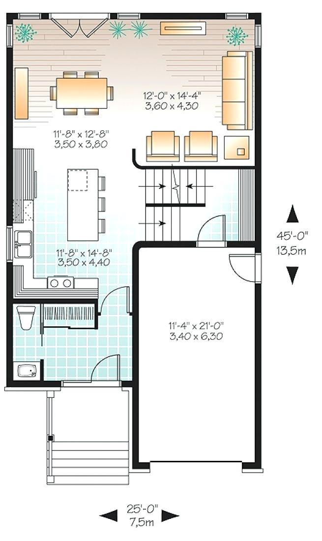 plan de maison sur terrain troit id es de travaux. Black Bedroom Furniture Sets. Home Design Ideas
