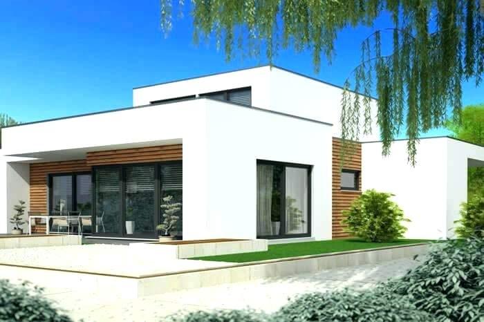 Plan maison contemporaine toit plat plain pied gratuit id es de travaux - Plan maison toit plat gratuit ...