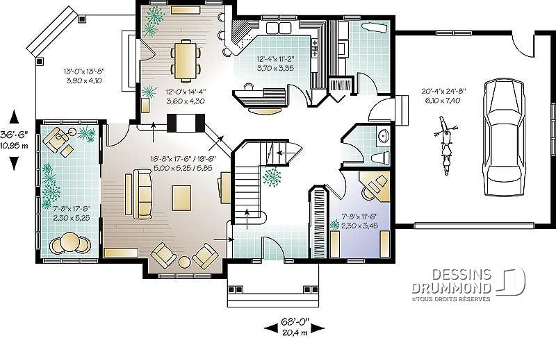 Plan maison style am ricain tunisie id es de travaux - Maison style americain ...