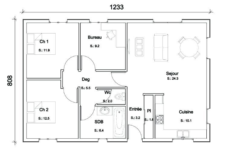 Plan de maison gratuit télécharger - Idées de travaux